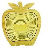 Cestino a frutta pieghevole & Sottopentola in legno di hevea–Design mela