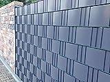 Zaunblende PVC Easy 0,19 x 2,55m hellgrau - RAL 7040