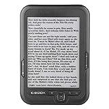 VBESTLIFE E-Reader Portatile con Schermo Inchiostro Elettronico Lettore E-Book E-Ink da 6 Pollici con Nero Custodia Protattiva (Grigio-4G)