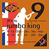 Rotosound Jumbo King Jeu de 12 cordes pour guitare acoustique Bronze phosphoreux Tirant extra light (10-10, 14-14, 24-8, 30-12, 40-18, 48-28) (Import Royaume Uni)