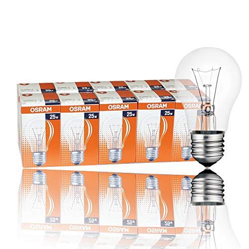 10 x OSRAM Glühbirne 25W E27 klar Glühlampe 25 Watt Glühbirnen Glühlampen