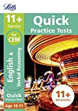 11+ English and Verbal Reasoning Quick Practice Tests Age 10-11 for the CEM tests (Letts 11+ Success)