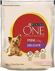 Purina One Mini Crocchette Cane Delicate con Salmone e Riso, per Cani fino a 10 kg, 800 g