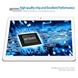 YUNTAB New Tablet 10.1 pulgadas 3G+WiFi DUAL SIM Android 5.1 3G Tablet PC Yuntab HD 1280 X 800 IPS MT6580,1.3GHz Cortex A7 Bluetooth 4.0 16GB WiFi 3D Juegos Google Play Store Youtube Netflix BLANCO