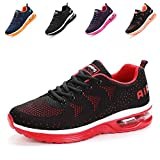Air Running Baskets Chaussures Homme Femme Outdoor Gym Fitness Sport Sneakers Style Multicolore Respirante-BlackRed39