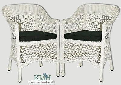 Zweier-Set: Polyrattan Gartensessel inklusive Sitzkissen (#106008) von KMH mbH