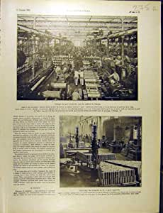 Français 1915 de Guerre du Shrapnel Ww1 d'Usine de Munitions de Creusot