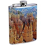 Flask Bryce Canyon National Park S2 Stainless Steel Hip 7 Oz Silver for Alcohol Whiskey Drinking Brandy Rum Utah