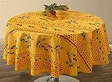 Provence-Tischdecke Olivette Jaune, rund ca. 160 cm, Antitache, abwischbar