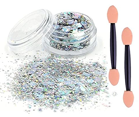 eBuy silver chunky glitter cosmetic glitter festival glitter sparkle face body hair nails make up*beauty