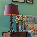 CXQ European Wedding Room New Classy Purple Camera da letto Camera da letto Antique Desk Lamp (Size : S)