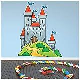 azutura Könige Schloss Wandtattoo Ritter Phantasie Wand Sticker Jungen Schlafzimmer Haus Dekor Erhältlich in 8 Größen Klein Digital