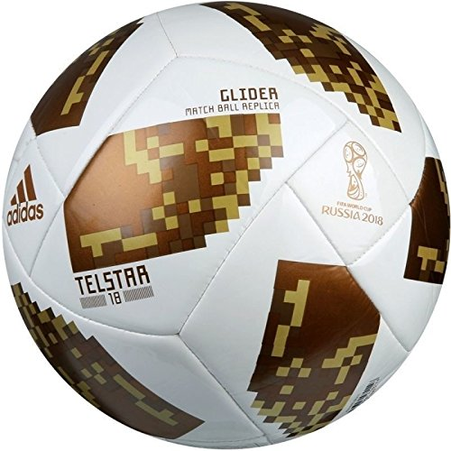 adidas World Cup Glider Trainingsball, White/Copper Gold met, 5 Gold Cup