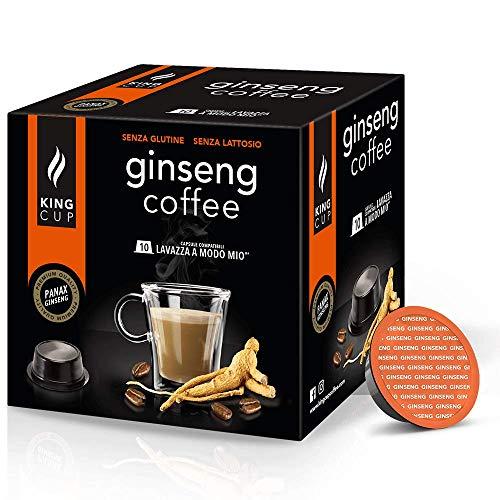Café al Ginseng - 5 paquetes de 10 Cápsulas compatibles con Lavazza* A Modo Mio®* 50 cápsulas