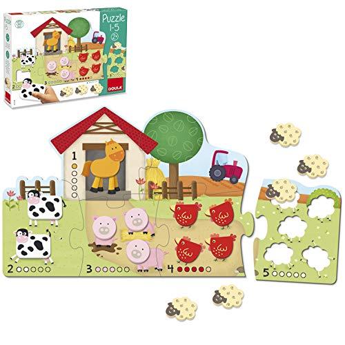 Goula Puzzle de madera infantil para aprender a contar del 1-5