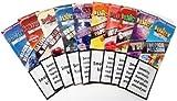 Juicy - 10 pacchetti di cartine per sigarette, 10 gusti