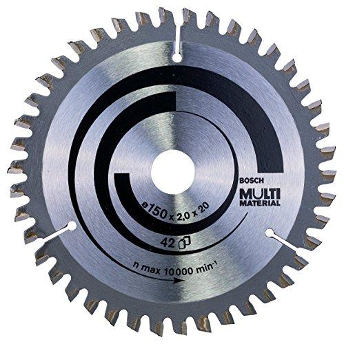 Preisvergleich Produktbild Bosch Zubehör 2608640501 Kreissägeblatt Multi Material 150 x 20/16 x 2,0 mm, 42