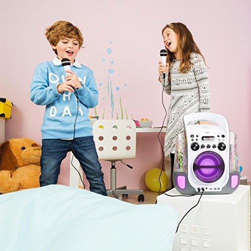 Auna Kara Liquida Karaoke Player mit Wasserfontäne (weiß) - 3
