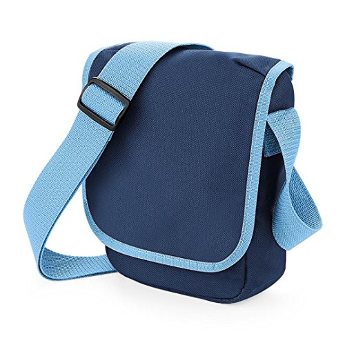 BagBase, Borsa a spalla donna rosso Classic Red / White 23 x 17 x 7cm French Navy / Sky Blue