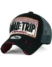 ililily Strasse Trip klassischer Stil abgenutztes Aussehen Snapback Trucker Cap Hut Baseball Cap
