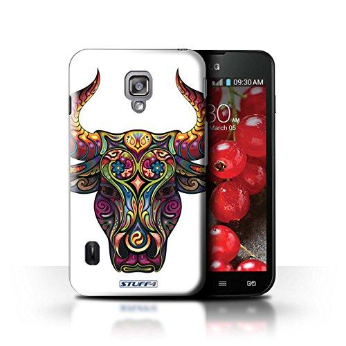 Kobalt® Imprimé Etui / Coque pour LG Optimus L7 II Dual / Taureau conception / Série Animaux décoratifs Taureau