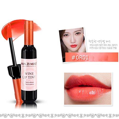 Rouge à Lèvres, Tefamore Imperméable à L'Eau Mat Velours Mat Durable à Long Rouge à Lèvres Bouteille cosmétique (E)