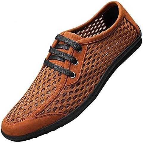 Spades & palos para hombre verano Super air-breathing Malla cordones Fashion Sneakers Zapatos de