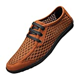 Spades & Clubs Mens Summer Super Air-breathing Mesh Lace-Up Fashion Sneakers Water Shoes