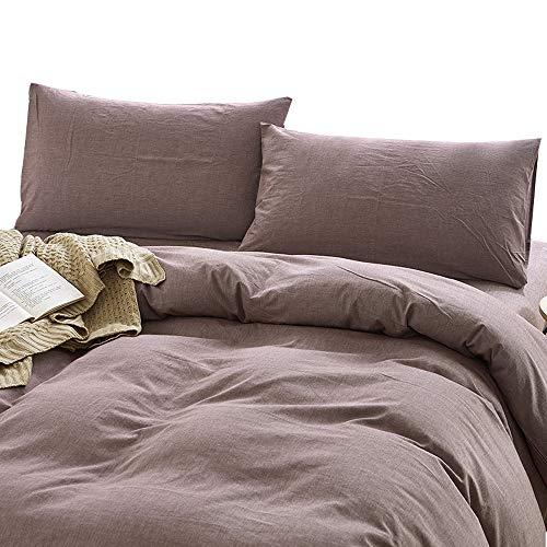 MKXI Solid Farbe Elegant Tröster/Quilt Cover Baumwolle Schlafzimmer-Kollektion Bettbezug Set Queen/King Size Modern King(104