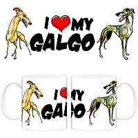 Taza I love my Galgo perro