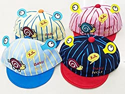 1stbabystore Baby Girl & Boy Unisex Premium Fancy with inside cotton lining and outside hosiery cotton with design Light Weight Soft Pure Ear Flap Premium Caps With And Bonnet Infant Basics Hat Topi For summer 1 pc (0-12Months, Multi Coloured)