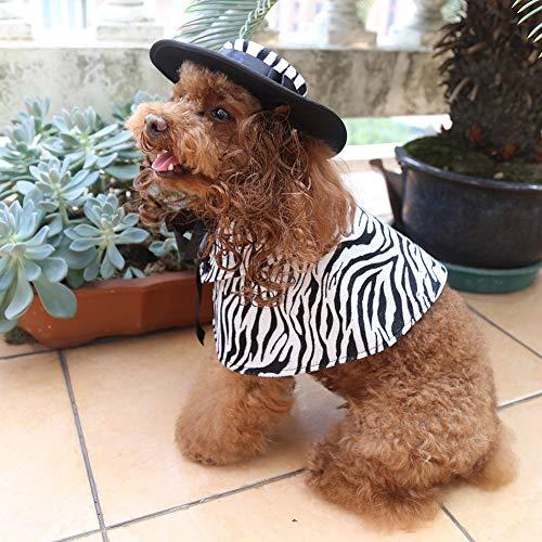 Haustier Hund Katze Kostüme Outfit - Mantel Haustier Hund Katze Kleidung Drucken Kostüm Halloween Weihnachten Tierkostüme Zubehör,Zebra,S (Zebra Katze Kostüm)