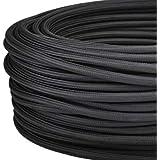 LaMorell LightDesign Câble électrique rond avec revêtement en tissu, couleur: noir. Section: 2 x 0,75mm