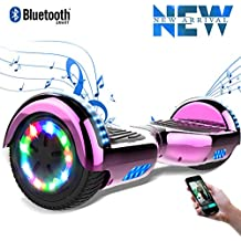 Cool&Fun 6,5 Pouces Balance Board LED Flash Bluetooth Smart Scooter Skateboard Électrique Gyropode 2x350W de Boutique GyroGeek
