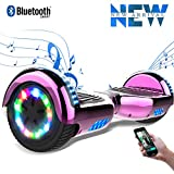 Cool&Fun 6,5 Pouces Hoverboard avec LED Flash Bluetooth Smart Scooter...