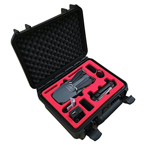 Professioneller Transportkoffer passend für DJI Mavic Pro (Kompakt Edition) mit Platz für insgesamt 3 Akkus und Zubehör ( Kompakt Edition ) - von MC-CASES - In Deutschland hergestellt - IP67 zertifiziert - Wasserdicht - 5 Jahre Garantie auf Koffer - Verschließbar