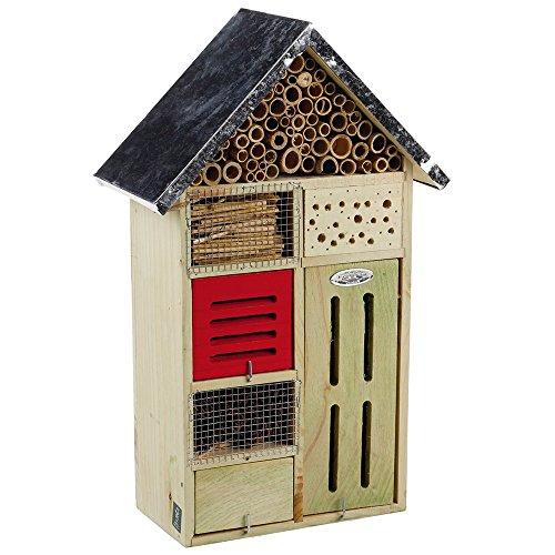 Beeztees 48224 Insektenhotel aus Holz, 24 x 12 x 49 cm