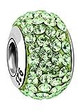 Nenalina Crystal Bead grün in 925 Sterling Silber, auch kompatibel für Pandora Beads Armbänder, 718072-005