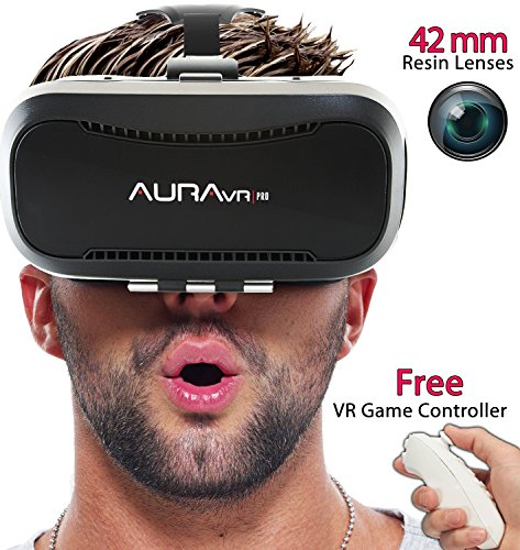 auravr pro vr headset with remote controller - 42mm fully adjustable vr glasses- inspired by google cardboard AuraVR Pro VR Headset with Remote Controller – 42MM Fully Adjustable VR Glasses- Inspired by Google Cardboard 51Q2wIdHOiL