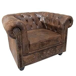 invicta interior 17383 chesterfield sessel antik look k che haushalt. Black Bedroom Furniture Sets. Home Design Ideas
