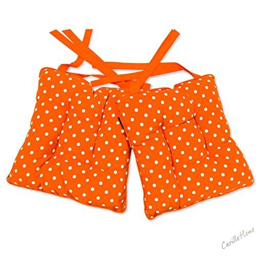 Coppia-Cuscini-Morbidone-Cotton-Pois-40x40-Arancione