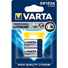 VARTA Litio - Pack de 2 Pilas CR123A (Litio, 3V, 1480 mAh)