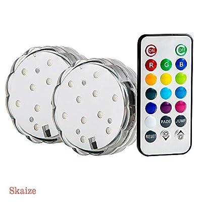 SkaizeTM LED Unterwasser Dekolicht Stimmungslicht mit 10 LED für Badewanne, Vase, Teich und Pool - 2 Stück von Skaize - Lampenhans.de