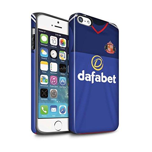 Offiziell Sunderland AFC Hülle / Matte Harten Stoßfest Case für Apple iPhone SE / Pack 24pcs Muster / SAFC Trikot Home 15/16 Kollektion Torwart