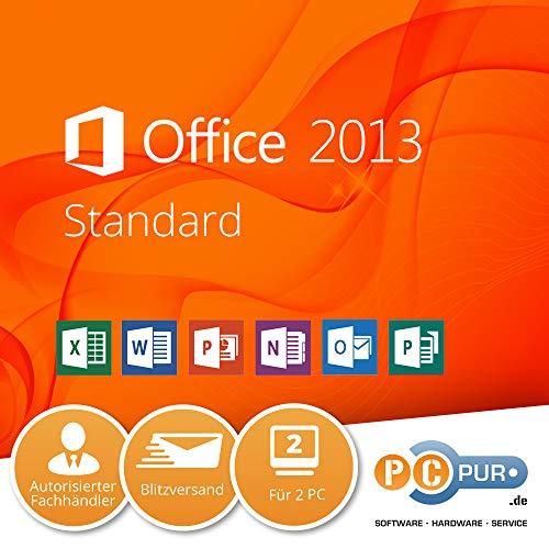 MS Microsoft Office 2013 STANDARD für 2PC's + 8GB USB-Flash-Drive mit Installationsdaten 32/64-Bit