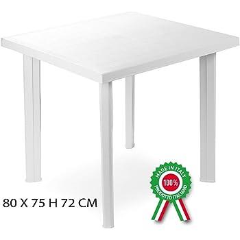 Tavolo Giardino Plastica Bianco.Savino Filippo Srl Tavolo Tavolino Tondo Diametro 70 Cm Milano In