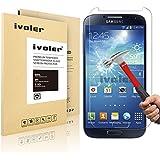 Samsung Galaxy S4 Pellicola Protettiva, iVoler® Pellicola Protettiva in vetro temperato per Samsung Galaxy S4- Vetro con Durezza 9H, Spessore di 0,2 mm,Bordi Arrotondati da 2,5D-Shockproof, Trasparenza ad alta definizione, Facile da installare- Garanzia a vita