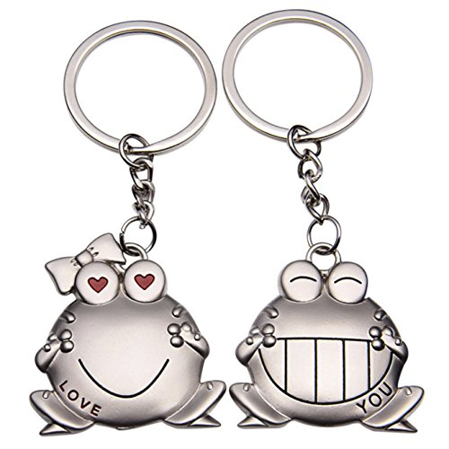 Schlüsselanhänger frog-shape Schlüsselanhänger Ring Anhänger Lover Geschenk für Valentinstag Hochzeit Geburtstag charismas, Style A ()