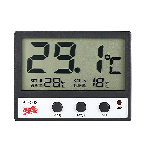 Galapara LCD Digital Thermometer für Kühlschrank Aquarium,Fisch-Behälter-Aquarium-Thermometer Wassertemperaturmessgerät ° C / ° F Hoch/Niedrig-Temperatur-Alarm -