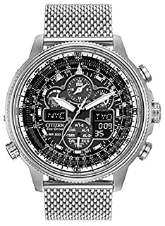 Citizen Navihawk AT Men's Eco Drive Watch with Black Dial Analogue/Digital Display and Silver Stainless Steel Bracelet JY8030-83E (B00KCF86SG) | Amazon Products